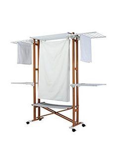 homcom mobiler w schest nder w schetrockner turm seitenfl gel 3 ebenen klappbar haushalt. Black Bedroom Furniture Sets. Home Design Ideas