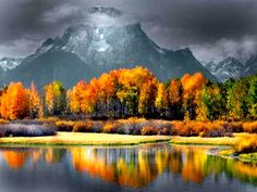 Mount Moran in Grand Teton National Park of western Wyoming.