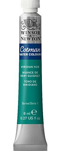 Kids' Watercolor Paint - Winsor  Newton Cotman Water Color 8ml Viridian Hue ** Learn more by visiting the image link.