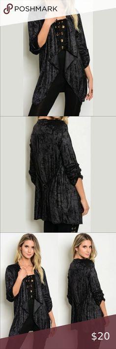 Womens Long Sleeve Lace Back Full Length Open Waterfall Boyfriend Maxi Cardigan