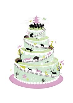 Happy ? Mitou ! Illustration Blog !!!!: My Multi-tiered Cake for Spoonful Zine !!! :)