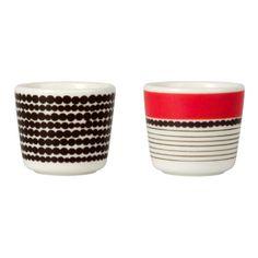 Perfect for two!  # Marimekko Siirtolapuutarha #Egg Cups Set of Two