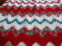 Ravelry: Contemporary Granny Ripple Throw pattern by Red Heart Design Team