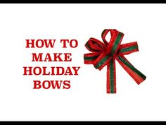 How to Make Hair Bows for Holidays   https://www.youtube.com/watch?v=LrpBizzO-z0