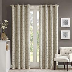 jcp   Madison Park Vella Jacquard Ogee Grommet-Top Curtain Panel