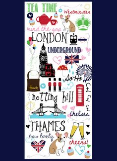 Sketches of London Art Print by AllieMarieDesigns London Kids, Mind The Gap, Vintage London, London Underground, London Photos, London Calling, Illustration Art, Illustrations, England