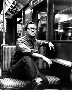 Sidney Lumet in an old NYC subway car. One of the great filmmakers, his films touched me so that although I never met the man I still get sad when I see a pic of him.