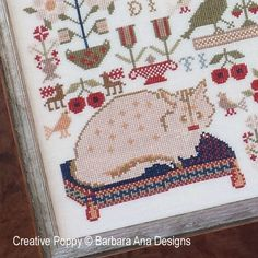 The Feathered Whisperers cross stitch pattern by Barbara Ana designs