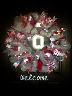 Ohio state wreath