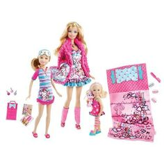 Barbie Sisters Slumber Party Set by Mattel by Mattel. $23.97. Accessories. 3 Dolls. Have a fun sleepover with this Barbie Sisters Slumber Party Set! This set features Barbie, Stacey and Kelly!