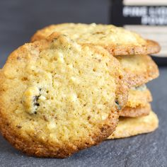 Liquorice, Lemon and White Chocolate Cookies