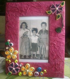 Quilling Picture Frame.