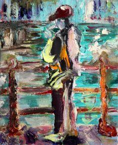 "Saatchi Art Artist: yvonne jones; Oil 2002 Painting ""St Ives series 2 (3)"""