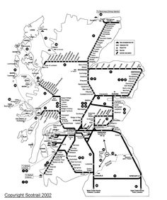 Great Scenic Rail Journeys route map for Glasgow