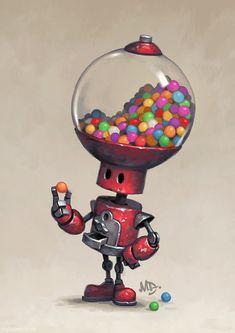 Homepage for illustrator Matt Dixon. Creator of the Transmissions series of robot artwork. Fantasy Character Design, Character Design Inspiration, Character Art, Character Concept, Arte Robot, Robot Art, Robots Drawing, Robots Characters, Modelos 3d
