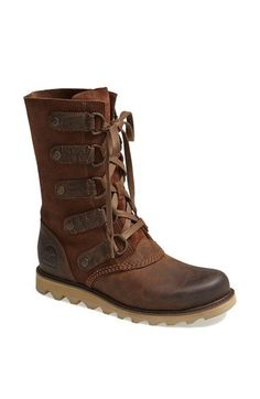 SOREL 'Scotia' Lace-Up Waterproof Leather Boot (Women)   Nordstrom