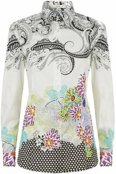 Floral Paisley Shirt - Lyst
