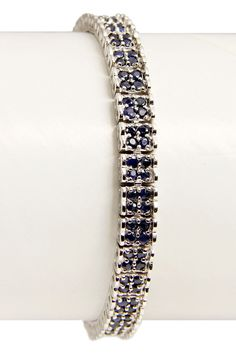 3ct Genuine Sapphire Bracelet in Sterling Silver - Beyond the Rack