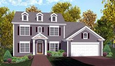 Colonial House Plan 92374