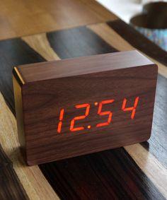 Walnut Wood Clock - Modern Clockwork Collection - Dot & Bo