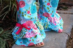 INSTANT DOWNLOAD Ruffles Galore Play and Party Pants sewing pattern - size 3 months - 10 years, ruffle pants, PDF sewing pattern