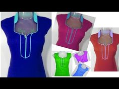 Latest Neckline For Suit & Kameez - Easy Making In Hindi - YouTube