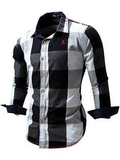269a3356b28 2016 New Arrival Men s shirt Long Sleeve Shirt Mens Dress Shirts Brand Casual  Fashion Business Style Shirts Cotton 064