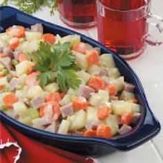 Microwave Potato Ham Dinner Recipe