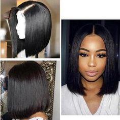 Short Bob Wigs, Short Hair Wigs, Long Wigs, Curly Wigs, Human Hair Wigs, Curly Bob, Bob Hairstyles, Straight Hairstyles, Black Hairstyles