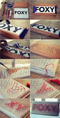 Can Can Dancer: DIY String Art