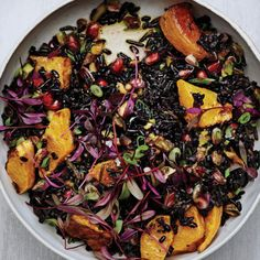 Black and Wild Rice Salad with Roasted Squash Recipe