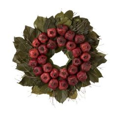 Dried Pomegranate Wreath in Holiday GREENS Wreaths at Terrain