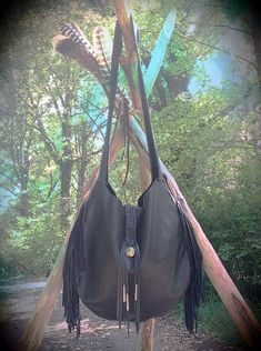 Our Mother The Mountain Leather Fringe Bag by nativerainbow, $278.00