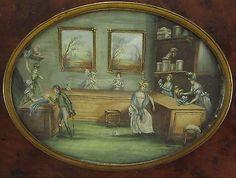 19th C Portrait Miniature Interior of A Milliner's Shop Signed Ha | eBay