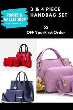 3 & 4 piece Handbag Set's Lots to Choose From Large Handbags, Purses And Handbags, Handbag Stores, Reusable Shopping Bags, Wallets For Women, Backpacks, Coats, Tote Bag
