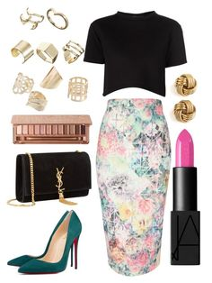 """Night in the city"" by morenasexy ❤ liked on Polyvore featuring Être Cécile, Christian Louboutin, Jane Norman, Yves Saint Laurent, NARS Cosmetics, Urban Decay and ASOS"
