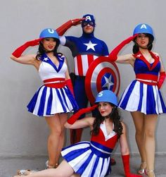captain american & the usa girls