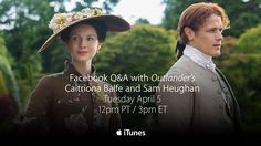 Outlander Facebook Q&A with Caitriona Balfe and Sam Heughan
