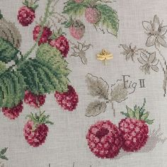 Raspberries - from Les Brodeuses Parisiennes (fabric and chart ordered)
