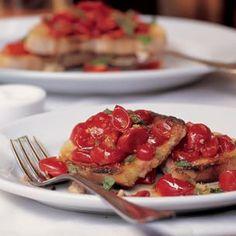 Garlic-Rubbed Toast with Fresh Tomatoes and Basil (Bruschetta al Pomodoro)   Williams-Sonoma