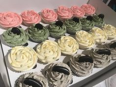 Mixed Cupcakes Mint Oreo Cookies N Cream Strawberry