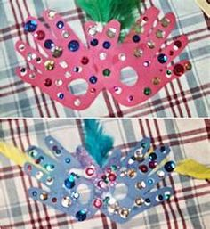 "Mardi gras mask for kids -- mardi gras ""Laissez les bons temps rouler"" let the good times roll. it is all dream, creativity and imagination. Craft Activities, Preschool Crafts, Fun Crafts, Crafts For Kids, Group Activities, Shrove Tuesday Activities, Theme Carnaval, Mardi Gras Party, Types Of Craft"