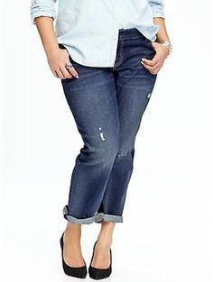6b141a57824 Womens Plus Slim Boyfriend Jeans Plus Size Boyfriend Jeans