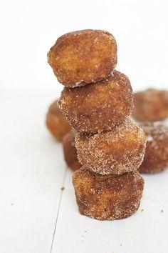 caramel stuffed cinnamon sugar donut holes