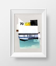 FWV70 • Florida Water Villa 70 #contemporarypapercollage #papercollage #collage #collageonpaper #artcollage #collageart