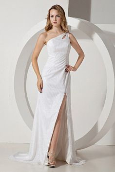 White Satin Sheath/Column Formal Gowns sfp2002 - http://www.shopforparty.com/white-satin-sheath-column-formal-gowns-sfp2002.html - COLOR: White; SILHOUETTE: Sheath/Column; NECKLINE: One-shoulder; EMBELLISHMENTS: ; FABRIC: Satin - 174USD