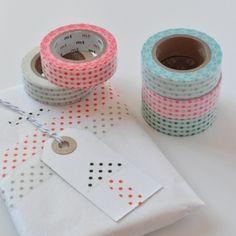 Masking tape à pois 10m   Happy Home