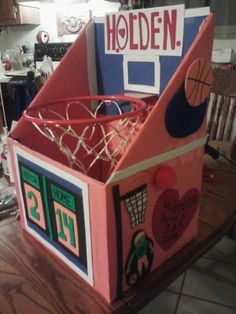 Basketball Goal Valentine Box