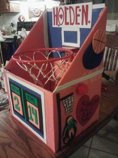Basketball Goal Valentine Box