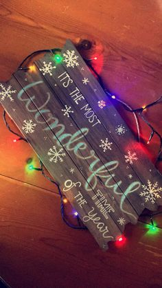Excited to share the latest addition to my #etsy shop: Handmade wooden Christmas Sign Most Wonderful Time of the Year